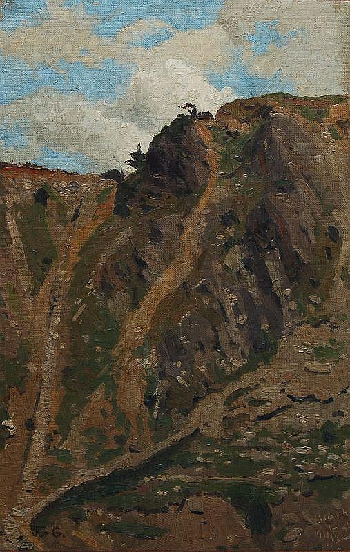 Adolf Fischer-Gurig, Pians (Tirol). 1888.