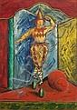 Bruno Krauskopf, Tanzender Clown. Wohl 1950's.