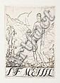 Verschiedene Künstler, 36 Blatt erotische und Akt-Exlibris. Überwiegend 1960er/ 1970's.