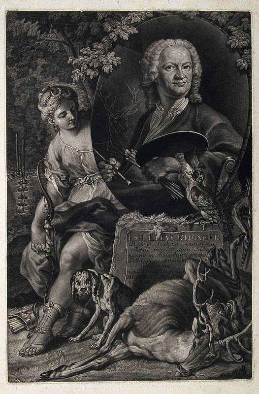 Johann Jakob Haid, Bildnis Johann Elias Ridinger. Mid 18th cent.