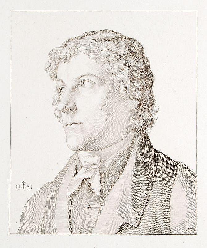 Hugo Bürkner, Portrait des Julius Schnorr von Carolsfeld. 1860.