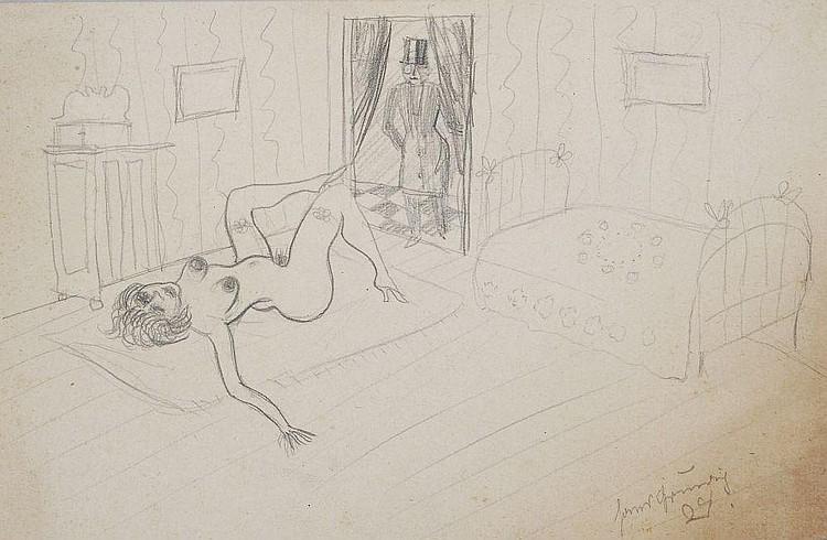 Hans Grundig, Herrenbesuch. 1924.