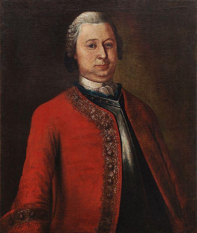 Unbekannter Künstler, Bildnis des Hans Friedrich W. Jeschke. 2nd half 18th cent.