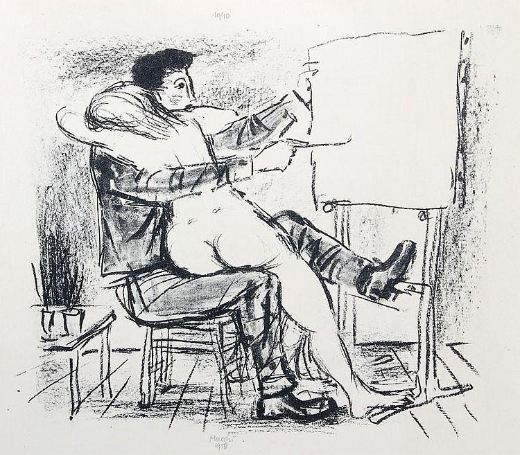 Gabriele Mucchi, Der Maler und sein Modell/ Das Modell. 1958/ 1961.