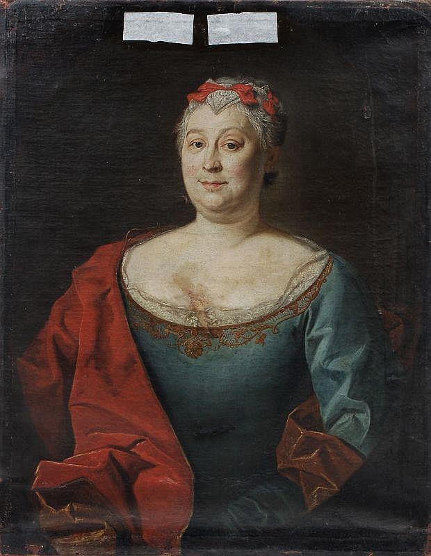 Unbekannter Künstler, Bildnis der Christiane Elisabeth Lingke. Mitte 18th cent.