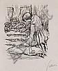 Alfred Kubin, Drei Lithographien. 1923.
