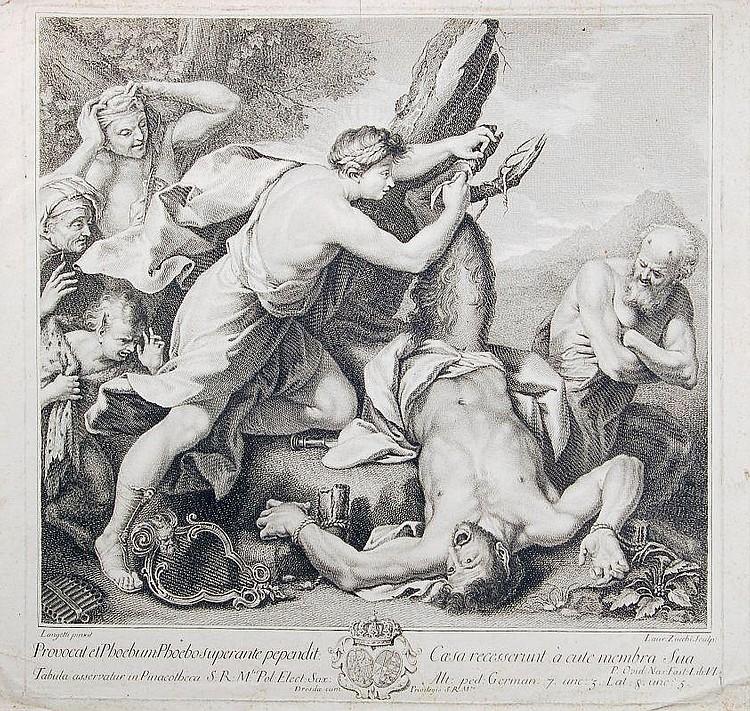 Lorenzo Zucchi, Die Schindung des Marsyas. Wohl 1757.