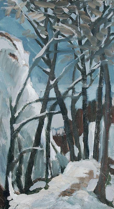 Gottfried Bräunling, Winterlandschaft. Wohl 1980's.