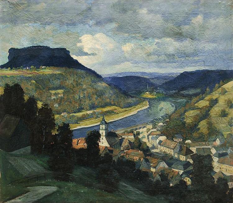 Martin Bammes, Blick auf Königstein. 1919.