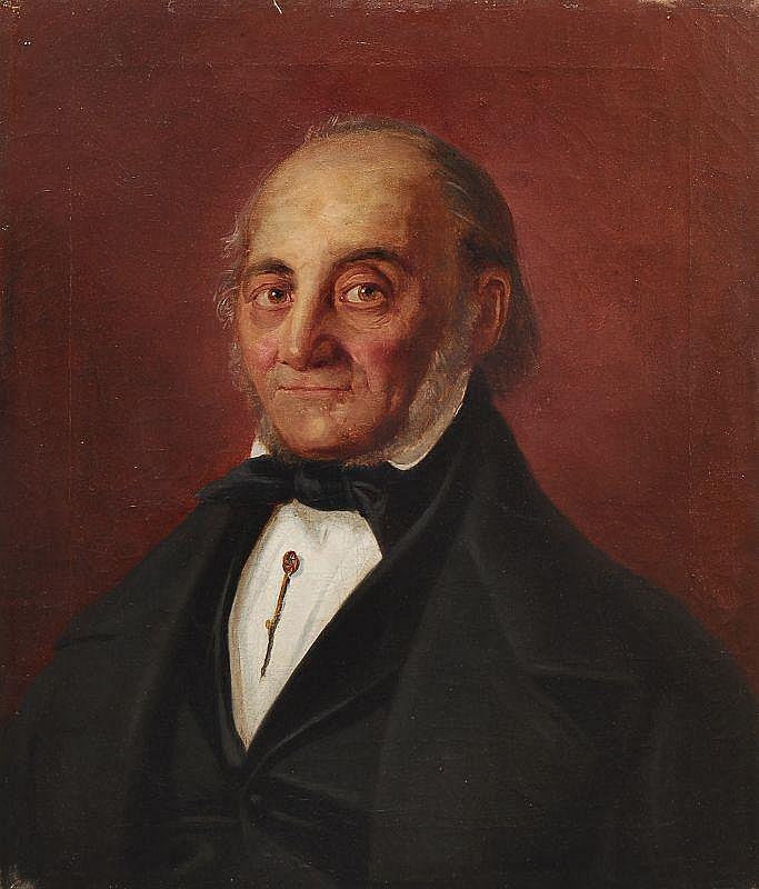 Unbekannter deutscher Künstler, Bildnis eines Herren. Wohl um 1830.