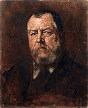 Kalman Deri, Portrait eines baertigen Mannes. 1885.