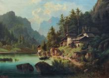 Albert Rieger d.Ae., Tiroler Bergsee. 1869.