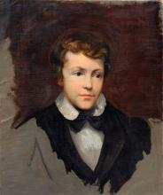Unbekannter Kuenstler. Portraitstudie eines jungen Herren. Mid 19th cent.