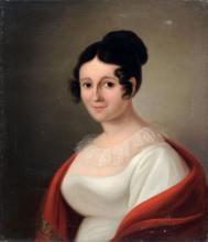 Unbekannter Leipziger Kuenstler, Portrait Luise Christiane Muench. 1st quarter 19th cent.