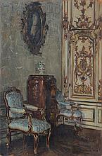Fritz Beckert, Schlossinterieur. 1918.