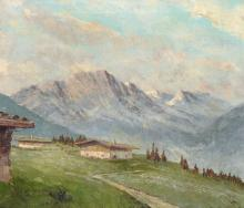 Albert Berr, Almhuetten in den Alpen. 1st half 20th cent.
