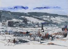Gerhard Doelz, Winterimpressionen Saalfelder Hoehe. Um 1990.