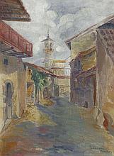 Heinrich Ehmsen, Italienische Gasse. Um 1920.