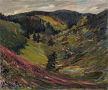 Friedrich Wilhelm Fischer-Derenburg, Landschaft im Harz. 1924.