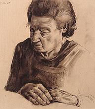 """Hubertus Giebe """"Die alte Frau Fichte"""". 1975."""