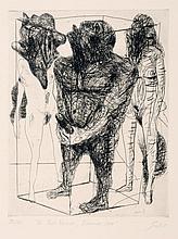 """Hubertus Giebe, Zu Pablo Neruda """"Einsamer Herr"""". 1981."""