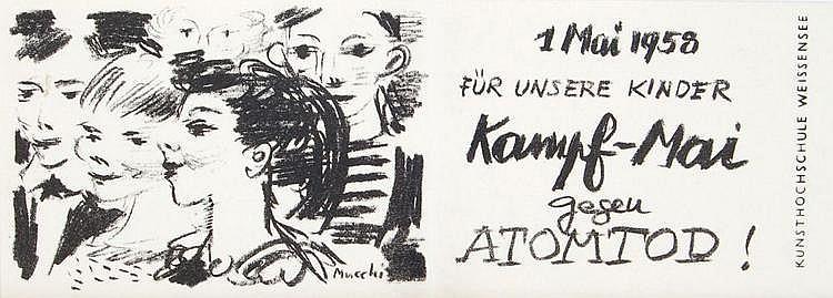 Gabriele Mucchi, Konvolut von 13 Grafiken. 2nd half 20th cent.
