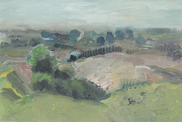 Hans Vent, Verhangene Landschaft. 1982.