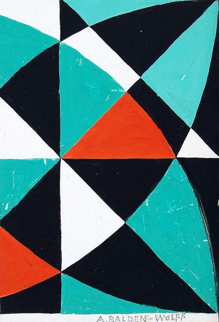 Annemarie Balden-Wolff, Geometrische Strukturen. No date.