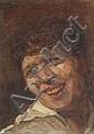 Georges Lucien Guyot, Bildnis eines lachenden Mannes (Studie). 1921.