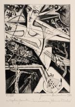 Hermann Naumann, Sieben druckgrafische Arbeiten. 1970er Jahre/ 1984.