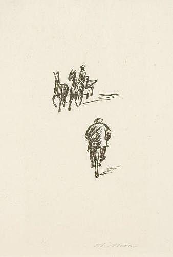 Arno Mohr, Fahrradfahrer und Zweispanner. Wohl 1960's.