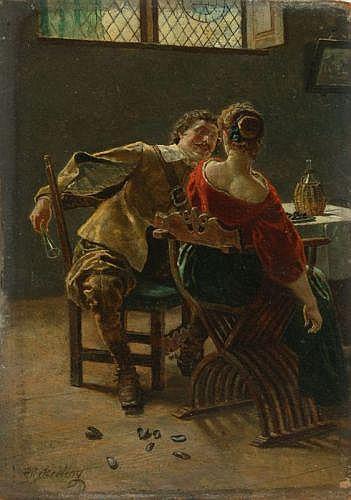 Heinrich Breling, Das Muschelessen. 1900.