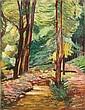 Unbekannter Künstler, Waldweg. Mid 19th cent.