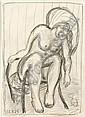 Peter Graf, Sitzender weiblicher Akt (die Frau des Künstlers). 1988.
