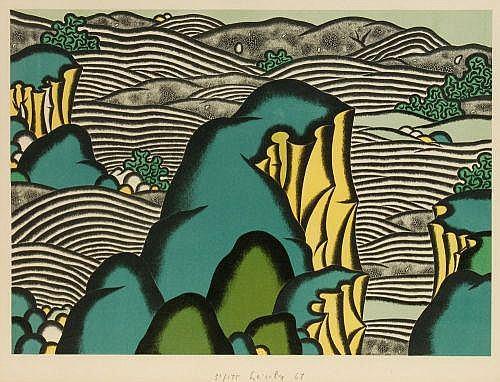 Arnold Leissler, Landschaft. 1967.