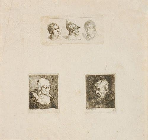 Michal Plonski, Portraitköpfe. 1802.