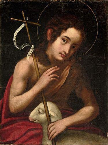 Unbekannter Künstler, Johannes der Täufer. 18th cent.