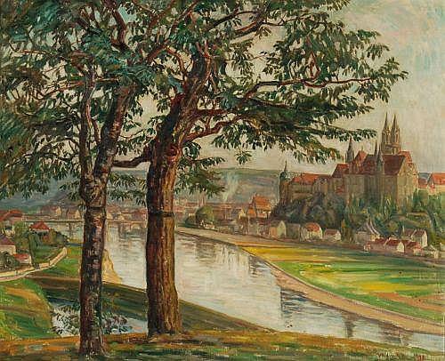 Rudolf Treuter, Der Burgberg zu Meißen. 1928.