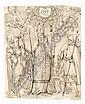 Unbekannter Künstler, Heiliger Ägidius mit dem Heiligen Sebastian und dem Heiligen Rochus. Wohl Süddeutsch oder Österreich. 17th cent.