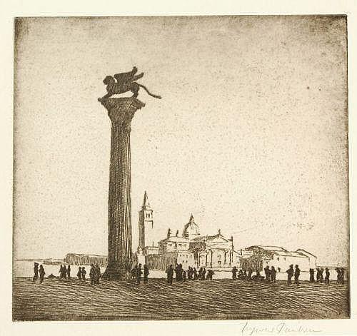 Ingwer Paulsen, Ansicht von Venedig mit dem Markusplatz. Um 1912.