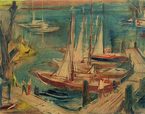 Wilhelm Kohlhoff, Südlicher Hafen. Um 1930.