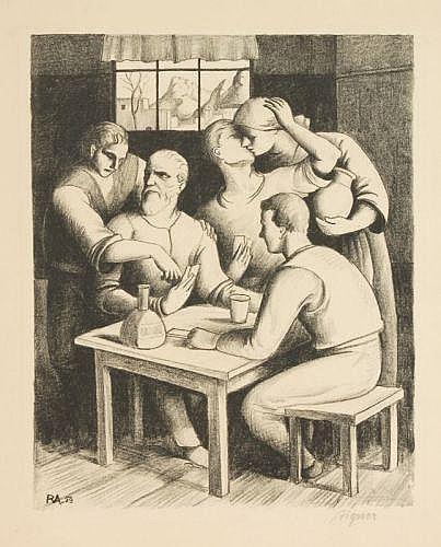 Robert Aigner, Im Wirtshaus. 1929.