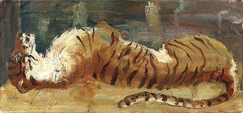 Josef Hegenbarth, Liegender Tiger. Um 1939.