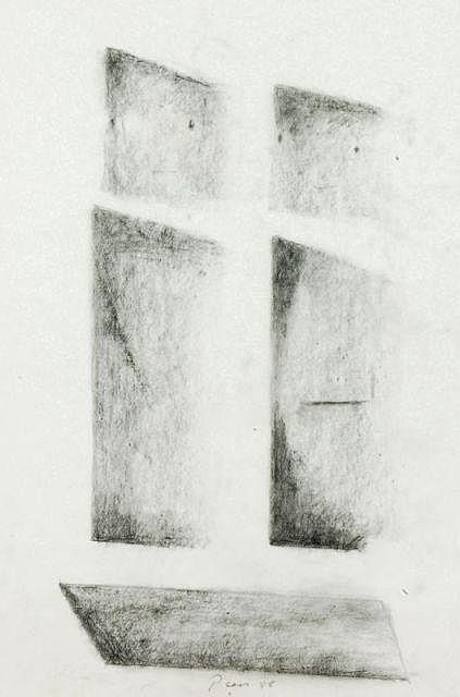 Friedrich Press, Maria und Josef vor der Krippe. 1988.