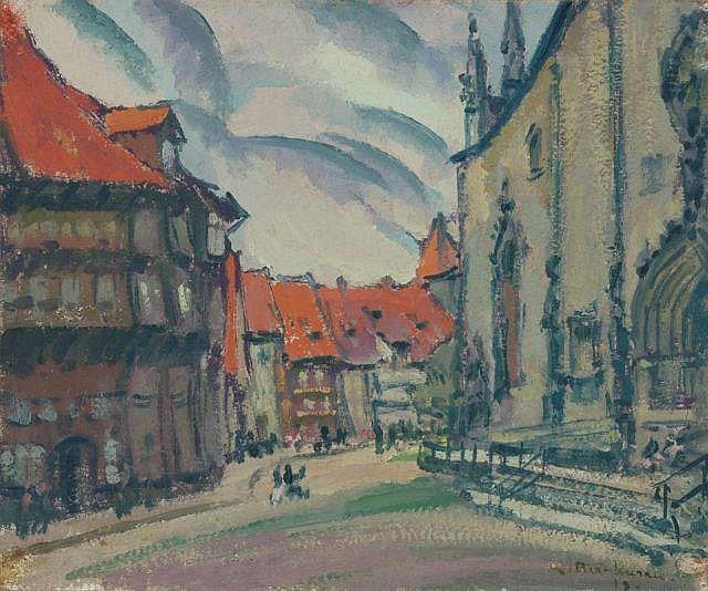 Johann Walter-Kurau, Kirchplatz. 1918.