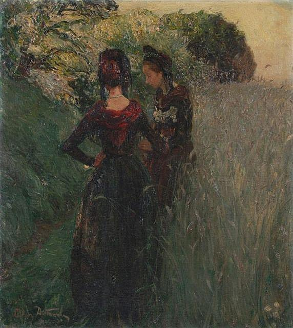 Ludwig Dettmann, Im Gespräch. 1902.
