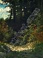 Monogrammist J.T.T., Romantische Waldlandschaft. Um 1900.