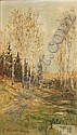 Eduard Weichberger, Herbstliche Landschaft. Um 1890.