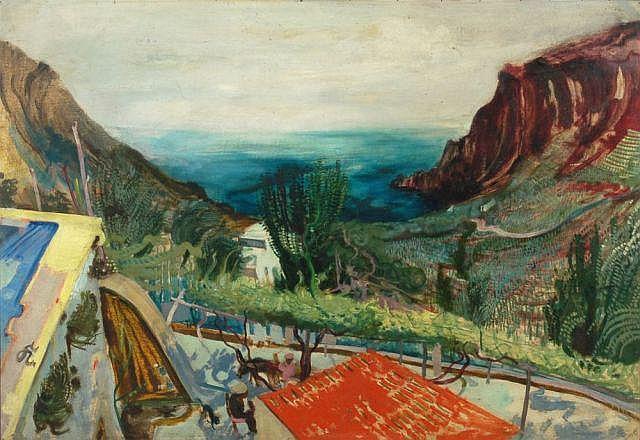 Willy Kriegel, Spanische Landschaft. Um 1928.