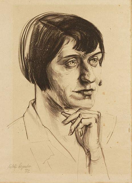 Rudolf Bergander, Bildnis einer Dame. 1933.